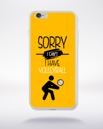 Coque sorry i can't i have volleyball 3 compatible iphone 6 transparent