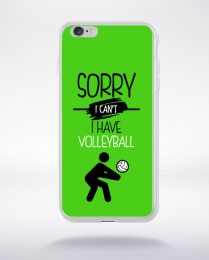 Coque sorry i can't i have volleyball 9 compatible iphone 6 transparent