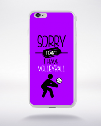 Coque sorry i can't i have volleyball 5 compatible iphone 6 transparent