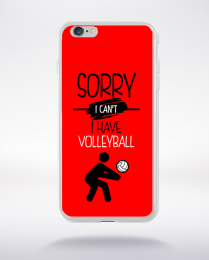 Coque sorry i can't i have volleyball 4 compatible iphone 6 transparent