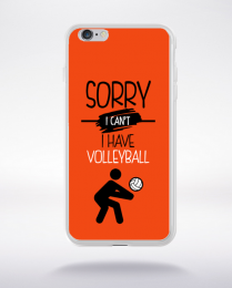 Coque sorry i can't i have volleyball 8 compatible iphone 6 transparent