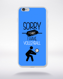Coque sorry i can't i have volleyball 10 compatible iphone 6 transparent