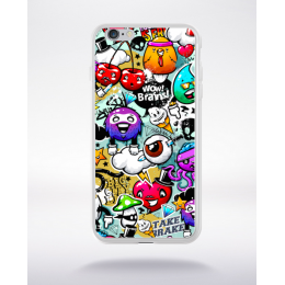 Coque graffiti abstrait 10 compatible iphone 6 transparent