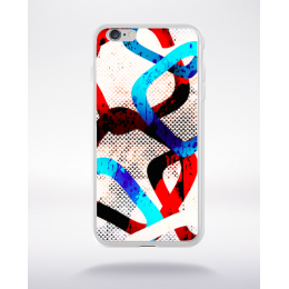 Coque graffiti abstrait 1 compatible iphone 6 transparent