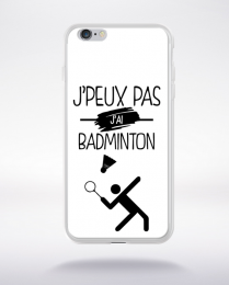 Coque j'peux pas j'ai badminton 1 compatible iphone 6 transparent