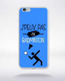 Coque j'peux pas j'ai badminton 12 compatible iphone 6 transparent
