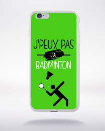 Coque j'peux pas j'ai badminton 11 compatible iphone 6 transparent