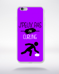 Coque j'peux pas j'ai curling 8 compatible iphone 6 transparent