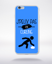 Coque j'peux pas j'ai curling 3 compatible iphone 6 transparent
