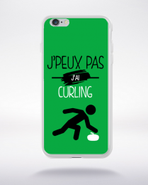 Coque j'peux pas j'ai curling 11 compatible iphone 6 transparent