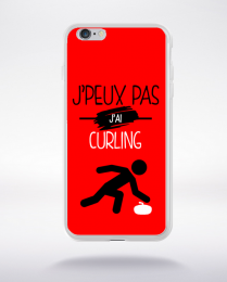 Coque j'peux pas j'ai curling 9 compatible iphone 6 transparent