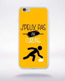 Coque j'peux pas j'ai curling 10 compatible iphone 6 transparent