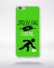 Coque j'peux pas j'ai curling 4 compatible iphone 6 transparent