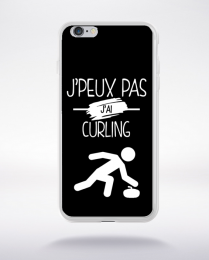 Coque j'peux pas j'ai curling 2 compatible iphone 6 transparent