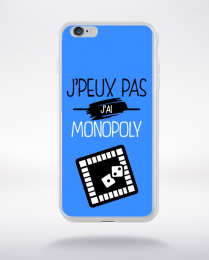 Coque j'peux pas j'ai monopoly 3 compatible iphone 6 transparent
