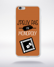 Coque j'peux pas j'ai monopoly 7 compatible iphone 6 transparent