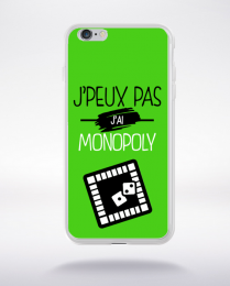 Coque j'peux pas j'ai monopoly 4 compatible iphone 6 transparent
