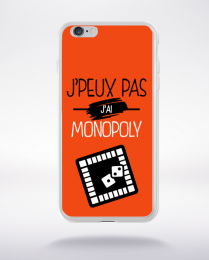 Coque j'peux pas j'ai monopoly 5 compatible iphone 6 transparent