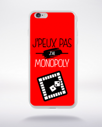 Coque j'peux pas j'ai monopoly 9 compatible iphone 6 transparent