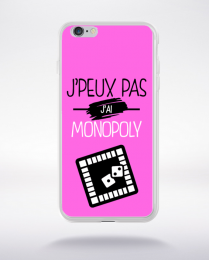 Coque j'peux pas j'ai monopoly 6 compatible iphone 6 transparent