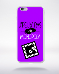 Coque j'peux pas j'ai monopoly 8 compatible iphone 6 transparent