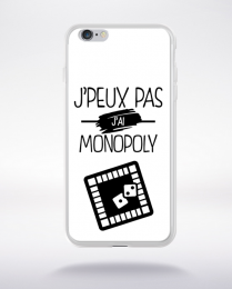 Coque j'peux pas j'ai monopoly 1 compatible iphone 6 transparent