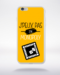 Coque j'peux pas j'ai monopoly 10 compatible iphone 6 transparent