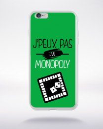 Coque j'peux pas j'ai monopoly 11 compatible iphone 6 transparent