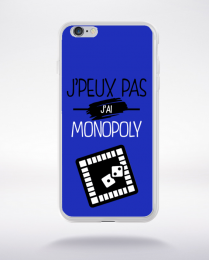 Coque j'peux pas j'ai monopoly 12 compatible iphone 6 transparent
