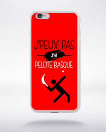 Coque j'peux pas j'ai pelote basque 9 compatible iphone 6 transparent