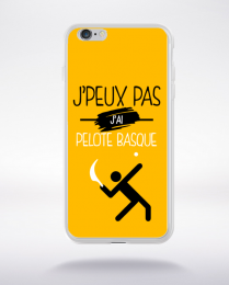 Coque j'peux pas j'ai pelote basque 10 compatible iphone 6 transparent