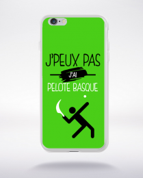 Coque j'peux pas j'ai pelote basque 4 compatible iphone 6 transparent