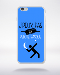 Coque j'peux pas j'ai pelote basque 3 compatible iphone 6 transparent