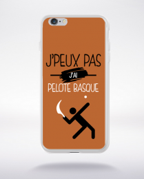 Coque j'peux pas j'ai pelote basque 7 compatible iphone 6 transparent
