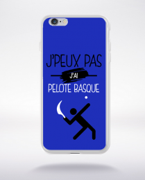 Coque j'peux pas j'ai pelote basque 12 compatible iphone 6 transparent