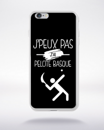 Coque j'peux pas j'ai pelote basque 2 compatible iphone 6 transparent