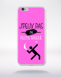 Coque j'peux pas j'ai pelote basque 6 compatible iphone 6 transparent
