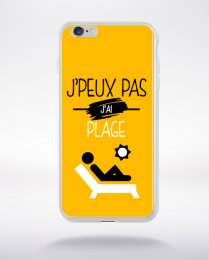 Coque j'peux pas j'ai plage 10 compatible iphone 6 transparent
