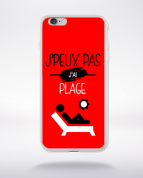 Coque j'peux pas j'ai plage 9 compatible iphone 6 transparent