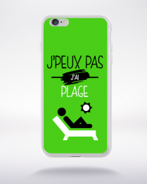 Coque j'peux pas j'ai plage 4 compatible iphone 6 transparent