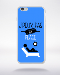 Coque j'peux pas j'ai plage 3 compatible iphone 6 transparent