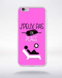 Coque j'peux pas j'ai plage 6 compatible iphone 6 transparent