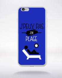 Coque j'peux pas j'ai plage 12 compatible iphone 6 transparent