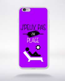 Coque j'peux pas j'ai plage 8 compatible iphone 6 transparent