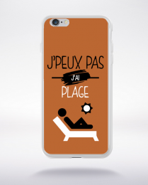 Coque j'peux pas j'ai plage 7 compatible iphone 6 transparent