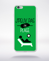Coque j'peux pas j'ai plage 11 compatible iphone 6 transparent