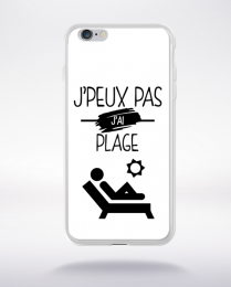 Coque j'peux pas j'ai plage 1 compatible iphone 6 transparent