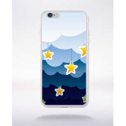 Coque la nuit en dessin 5 compatible iphone 6 transparent