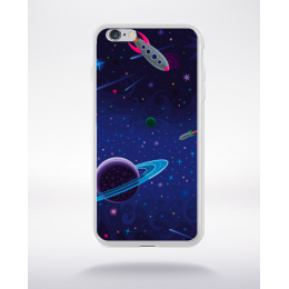 Coque la nuit en dessin 3 compatible iphone 6 transparent