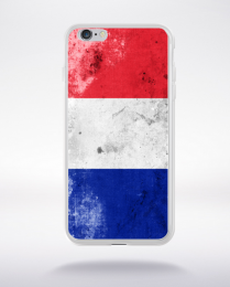 Coque drapeau vintage france euro 2016 compatible iphone 6 transparent